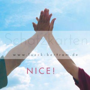 Set 1 Wertschätzungskarten | nice | lueck-bertram.de